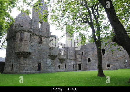 The Earl's Palace in Kirkwall, Orkney, was built around 1607 by Patrick Stewart who was known for his cruelty. - Stock Photo