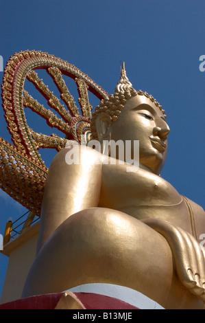 wat phra yai ( aka temple of the big buddha ) , big buddha beach , koh samui , thailand - Stock Photo