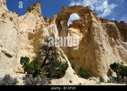 Grosvenor Arch near Kodachrome Basin State Park Utah - Stock Photo