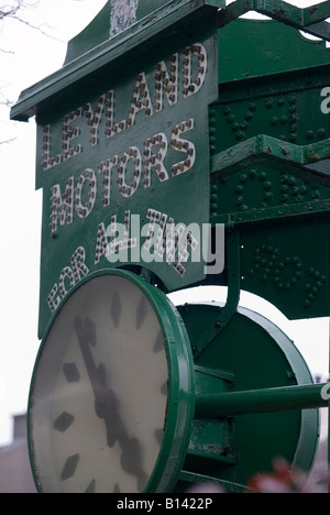 leyland motors works clock - Stock Photo