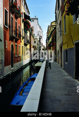 Side canal off the Grand Canal, Venice, Italy - Stock Photo