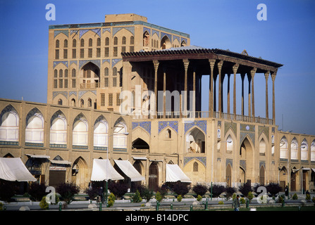 geography / travel, Iran, Isfahan, castles, Ali Qapu Palace, built: 16th century by Shah Abbas I, exterior view - Stock Photo