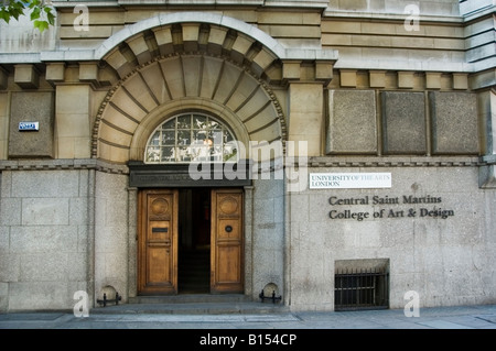 Entrance to Central Saint Martins College of Art and Design biggest in Europe, Central London, Holborn, WC1, Great - Stock Photo