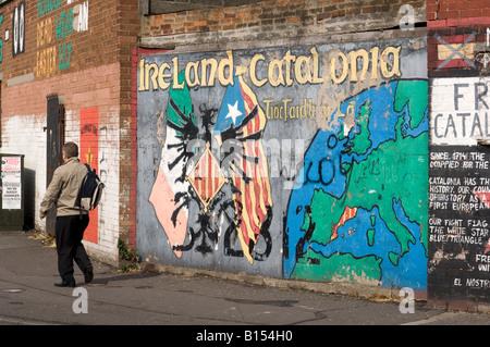 Belfast falls rd republican mural bobby sands rip stock for Bobby sands mural falls road