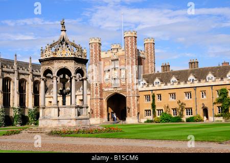 Trinity College Cambridge England UK - Stock Photo