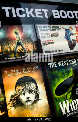 Ticket Booth for Musicals in London, England - Stock Photo