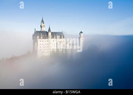 Germany, Bavaria, Allgaeu, Neuschwanstein Castle - Stock Photo