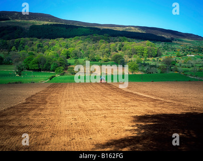 Tillage below Slieve Gullion, Co Armagh, Ireland - Stock Photo