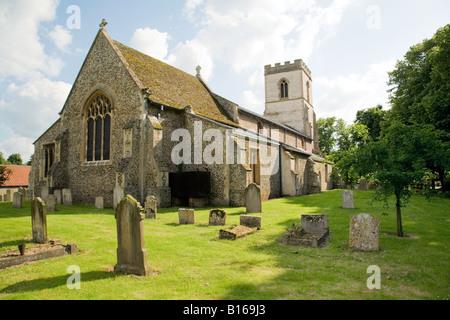 Chippenham Church and churchyard, Chippenham village, Cambridgeshire, England - Stock Photo