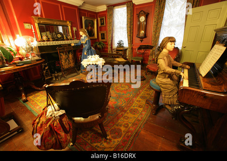 City of Chester, England. The Period House Victorian Parlour in the House Through Time exhibition at Chester Grosvenor - Stock Photo