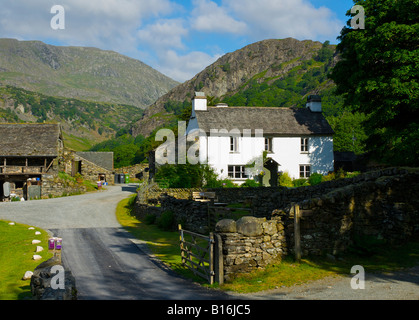 Yew Tree Farm, near Coniston, once owned by Beatrix Potter, Lake District National Park, Cumbria, England UK - Stock Photo