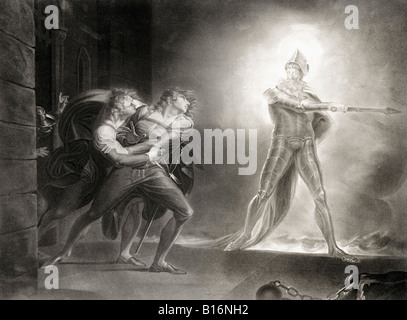 Act 1 scene 4 from Hamlet by William Shakespeare 1564 to 1616 English poet and dramatist - Stock Photo
