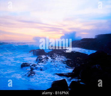 Coast near Fanore, The Burren, Co Clare, Ireland - Stock Photo