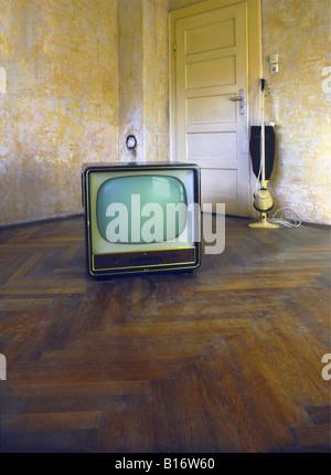 broadcast, television, TV set, typ AEG, Germany, 1955, , - Stock Photo