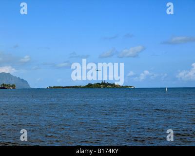 kaneohe bay coconut island - Stock Photo