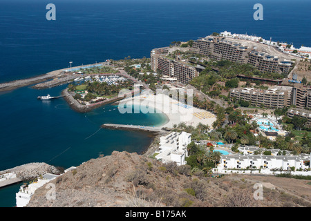Anfi del Mar timeshare resort near Puerto Rico on Gran Canaria in The Canary Islands. - Stock Photo