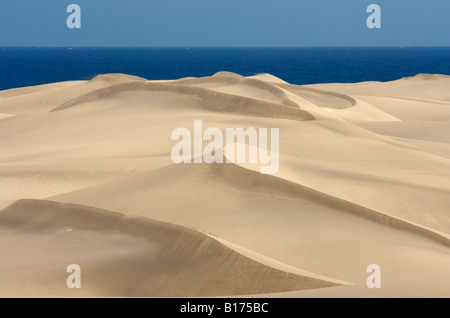 Las Dunas (The Dunes) at Maspalomas on Gran Canaria in The Canary Islands. - Stock Photo
