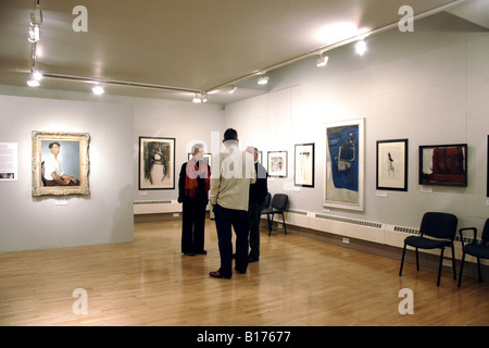 Visitors Royal Cambrian Academy Art Gallery Conwy - Stock Photo