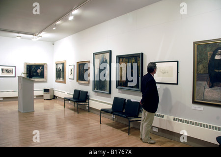 Visitor Royal Cambrian Academy Art Gallery Conwy - Stock Photo