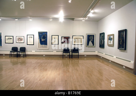 Exhibition of Paintings Royal Cambrian Academy Art Gallery Conwy - Stock Photo