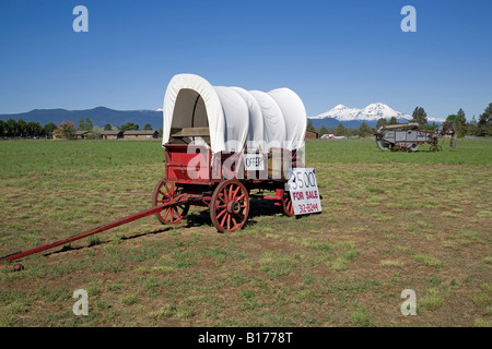 Covered Wagon On The Old Oregon Trail At Whitman Mission National Stock Photo Alamy