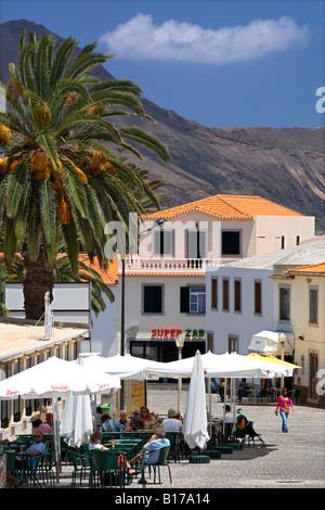 The town of Vila Baleira on the Portuguese Atlantic island of Porto Santo. - Stock Photo