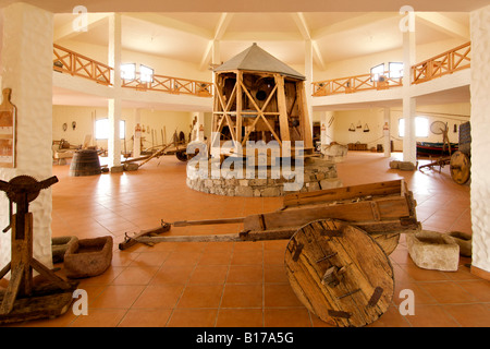 Interior of the Museu do Cardina museum on the Portuguese Atlantic island of Porto Santo. - Stock Photo