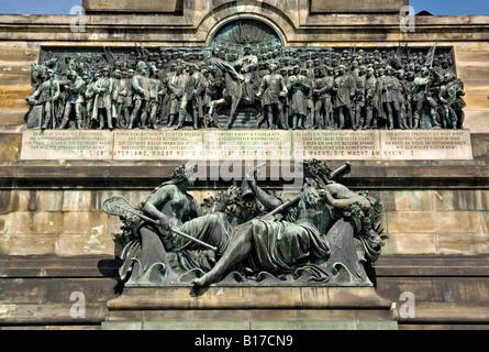 Niederwald denkmal monument near Rüdesheim, Germany. - Stock Photo
