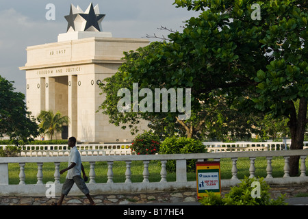 Independece arch on Independence square in Accra Ghana - Stock Photo