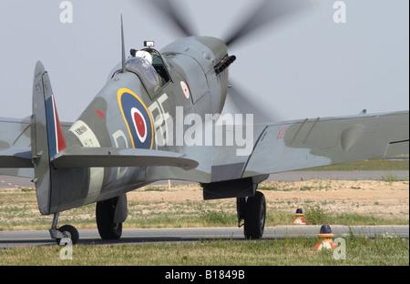 Royal Air Force RAF Supermarine Spitfire Mk V serial AB910 wearing the colour scheme of 303 Polish Sqn - Stock Photo
