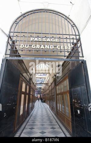 France, Paris, View of the Passage du Grand Cerf - Stock Photo