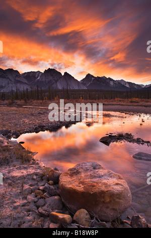 The North Saskatewan River along the Kootenay Plains Alberta, Canada. - Stock Photo