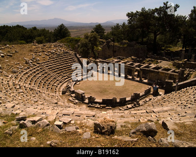The Theatre at Priene, Aegean Region, Turkey - Stock Photo