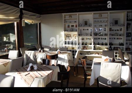 At the 'Arrayan' Tea House-Interior 2 - Stock Photo