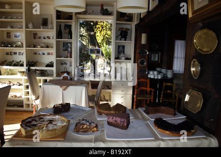 At the 'Arrayan' Tea House-Interior - Stock Photo
