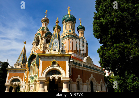 The Russian Orthodox Cathedral of Saint Nicholas in Nice France photographed June 2008 FOR EDITORIAL USE ONLY - Stock Photo