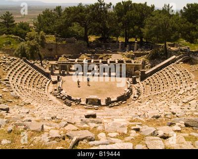 The Theatre, Priene, Turkey - Stock Photo