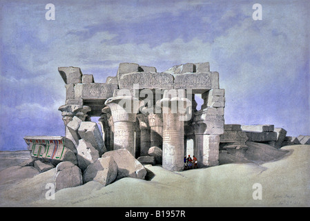 The Temple of Kom Ombo - Stock Photo