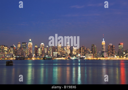 View of midtown New York from New Jersey, USA - Stock Photo