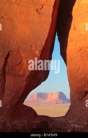 Teardrop Arch in Monument Valley, Arizona - Stock Photo