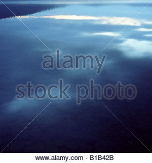 Finland, Lapland, Lake Inari with fog - Stock Photo
