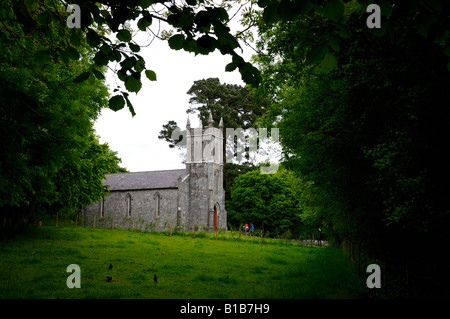 A church in Irish countryside. County Clare, Ireland. - Stock Photo