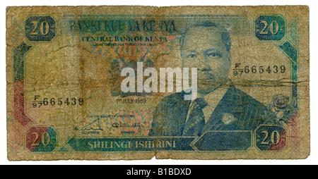 Banknote, Kenya Shilling, close-up - Stock Photo