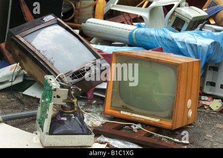 broadcast, television, TV set, typ Loewe Opta Optimat 665, - Stock Photo