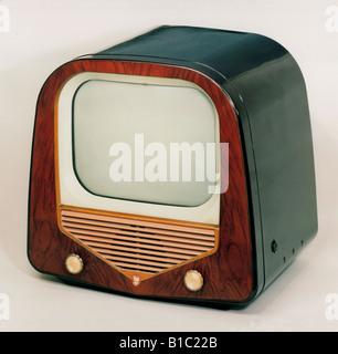 broadcast, television, TV set, typ, Philips, France, circa 1952, - Stock Photo