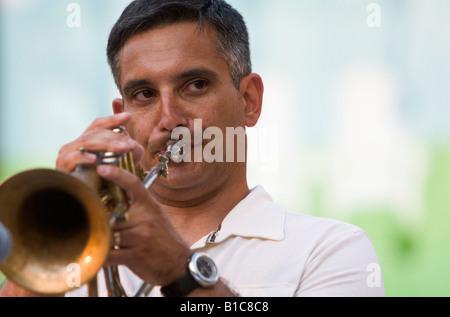 Joe Parisi performs at Jazz in June - Stock Photo