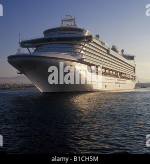 Early morning arrival of luxury P&O flagship cruise ship Ventura P and O Cruise Lines with in the Port of Palma - Stock Photo