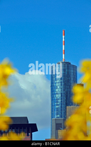 Maintower, state bank of the states of Hesse and Thuringia, Germany, Hesse, Frankfurt - Stock Photo