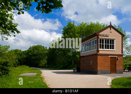 Disused signal box at Hartington on the Tissington Trail in the Peak District National Park Derbyshire England UK - Stock Photo