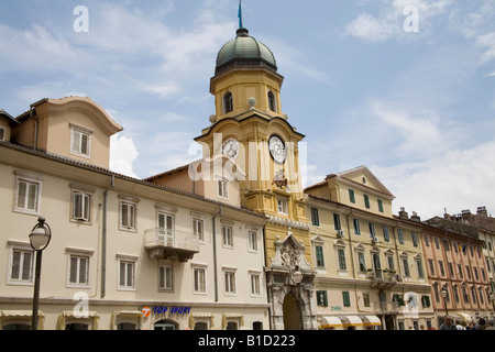 Rijeka Istria Croatia Europe May The Baroque Civic Tower built in the 18thc on Korzo Street in the heart of the - Stock Photo